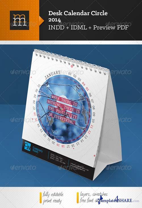 GraphicRiver Desk Calendar-4 2014 Circle