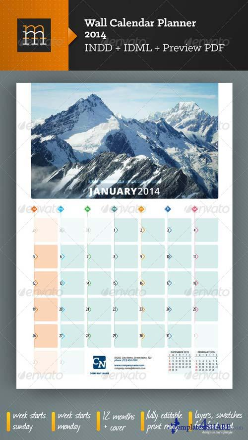 GraphicRiver Wall Calendar Planner