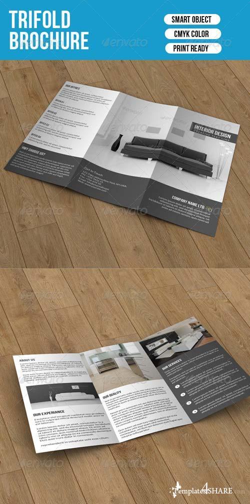 GraphicRiver Minimal Trifold-Interior Design
