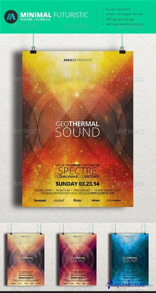 GraphicRiver Minimal - Futuristic Poster | Flyer V.4