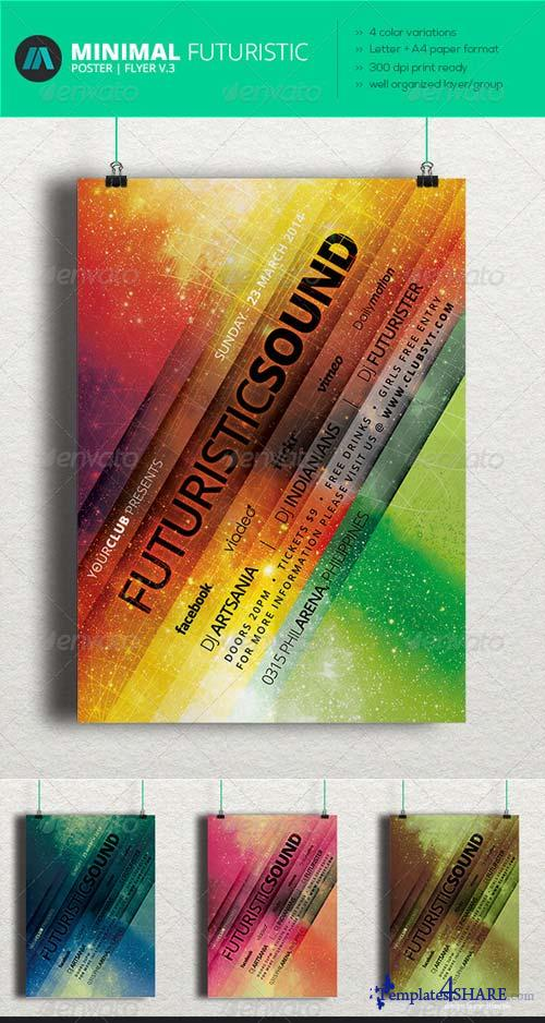 GraphicRiver Minimal - Futuristic Poster | Flyer V.3