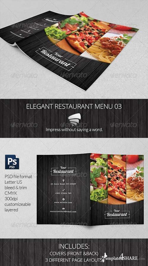 GraphicRiver Elegant Restaurant Menu 03