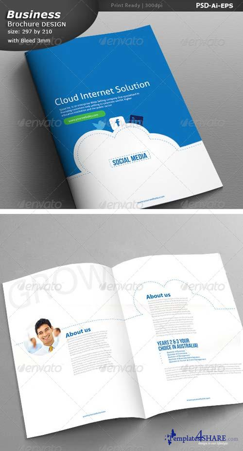 GraphicRiver Cloud Social Media Business Brochure