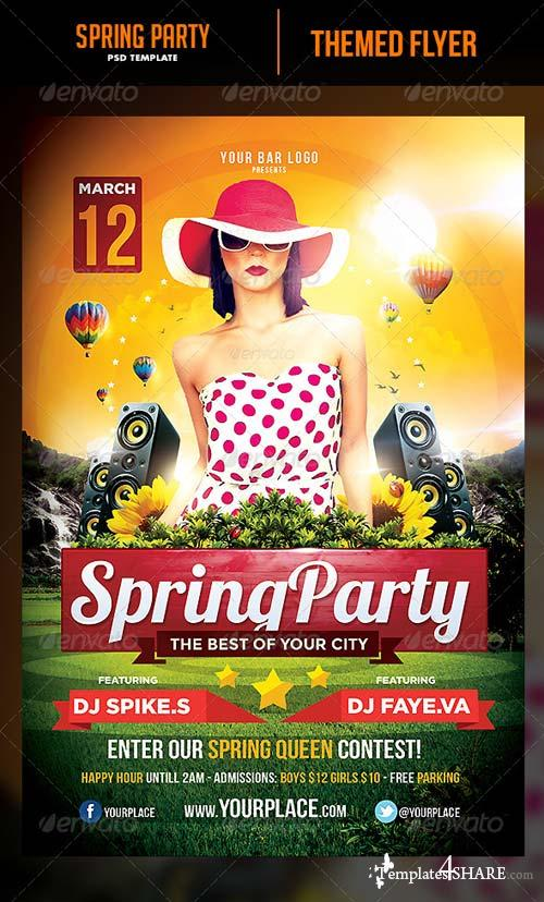 GraphicRiver Spring Party Flyer Template