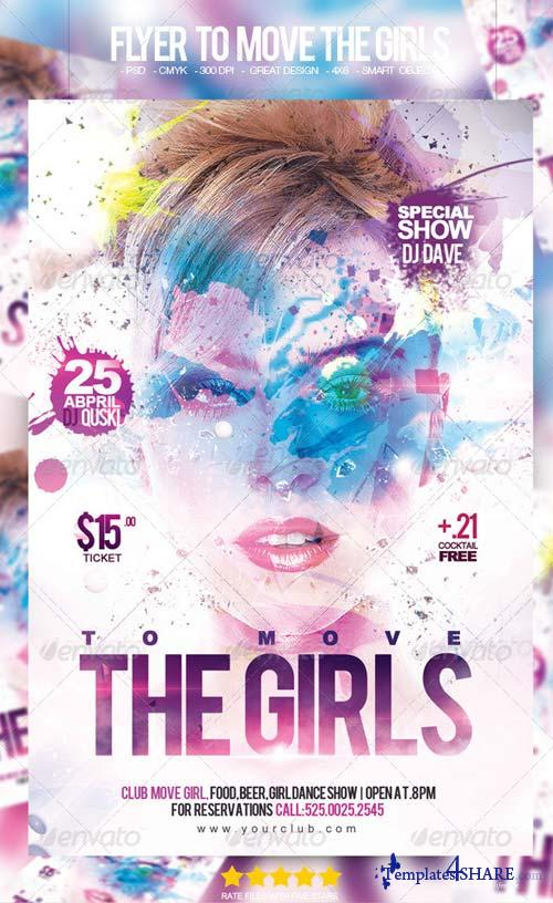 GraphicRiver Flyer To Move The Girls Party