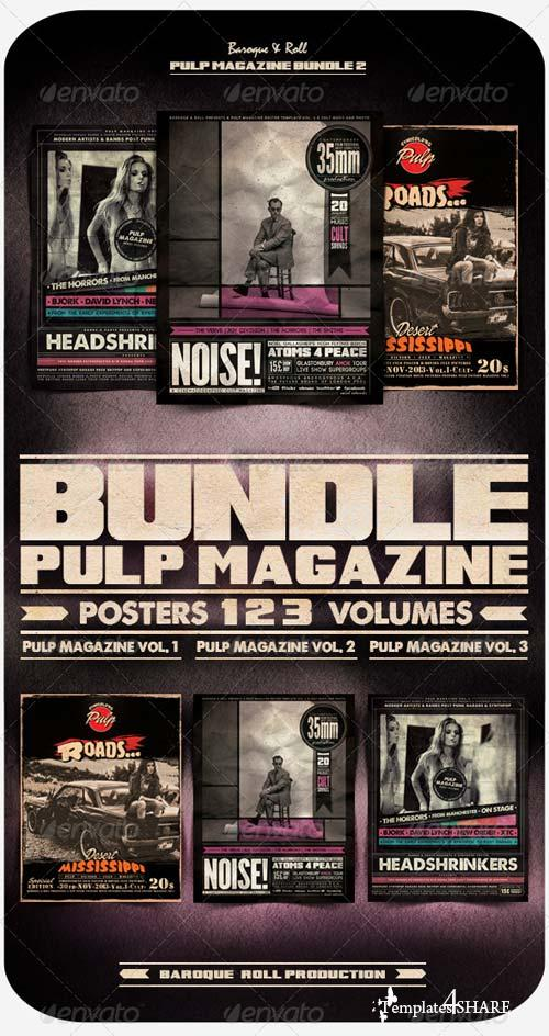 GraphicRiver Pulp Magazine Bundle 2