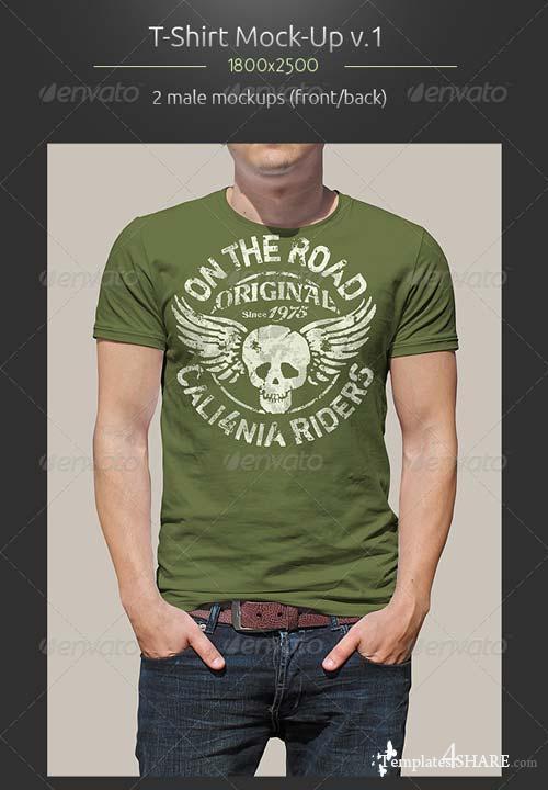 GraphicRiver Man T-Shirt Mockup v.1