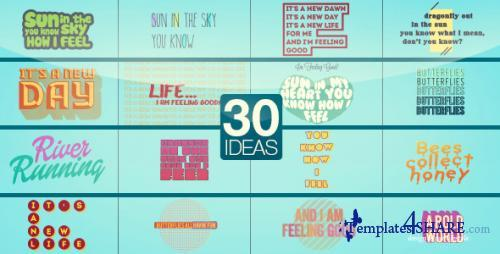 30 Text Ideas - After Effects Project (Videohive)
