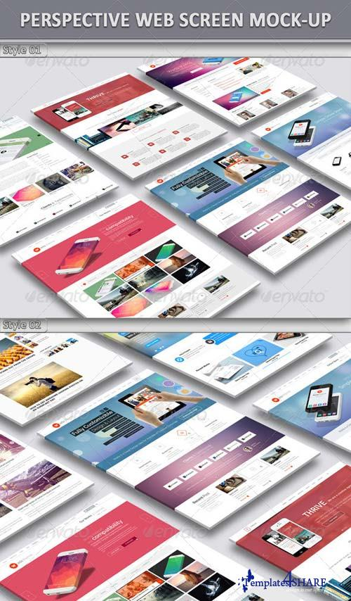 GraphicRiver Perspective Web Screen Mock-Up