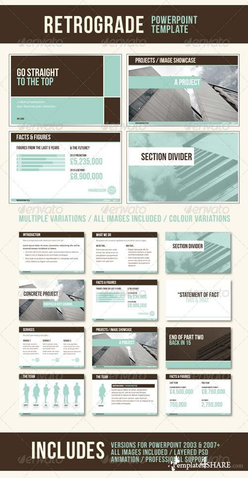 GraphicRiver RetroGrade PowerPoint Template