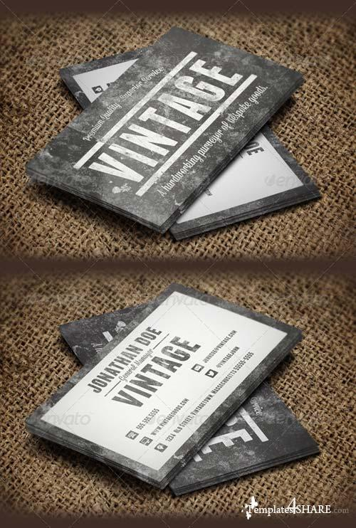 GraphicRiver Vintage Grunge Business Cards