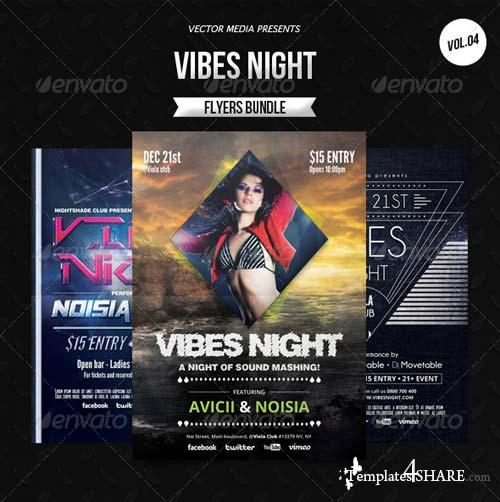 GraphicRiver Vibes Night - Flyers Bundle [Vol.4]