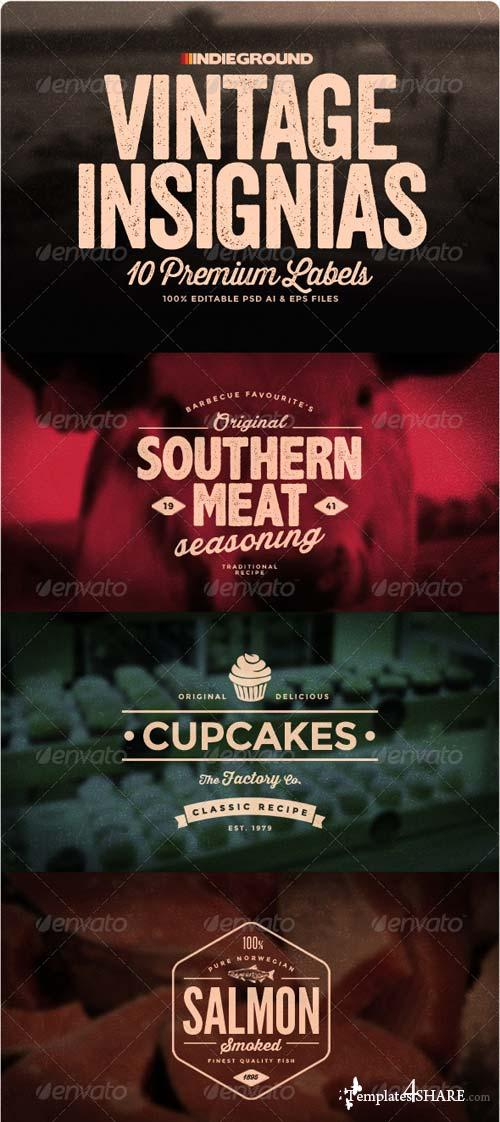 GraphicRiver Vintage Insignias & Labels