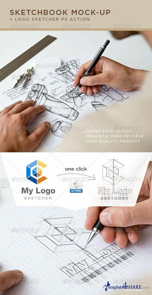 GraphicRiver Sketchbook Mock-Up 7188571