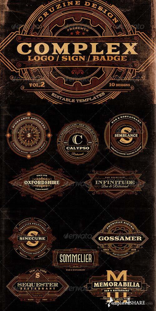 GraphicRiver Complex Logos/Signs/Badges v.2