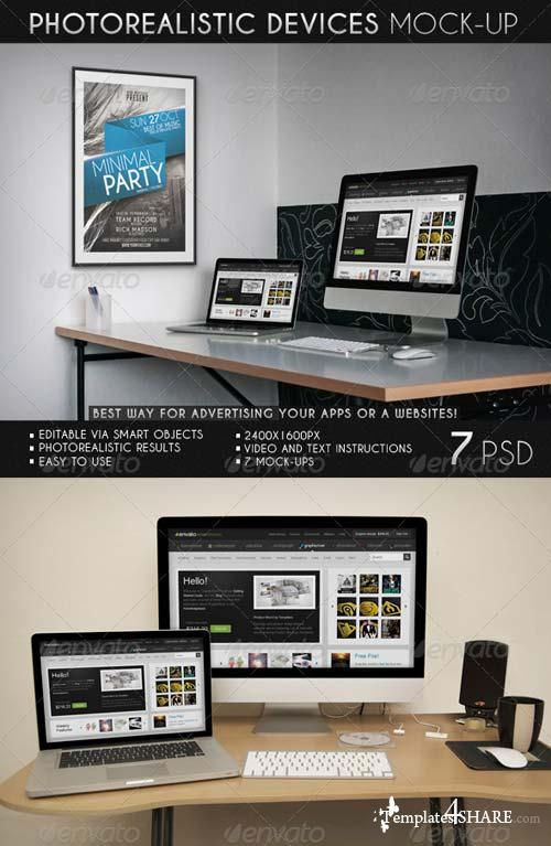 GraphicRiver Photorealistic Devices Mock-Up
