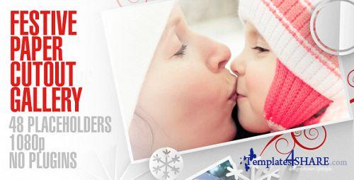 Festive Paper Cutouts Gallery - After Effects Project (Videohive)