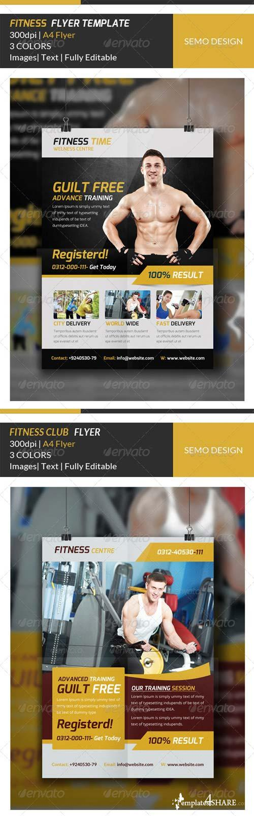GraphicRiver Fitness Flyer Template Bundle