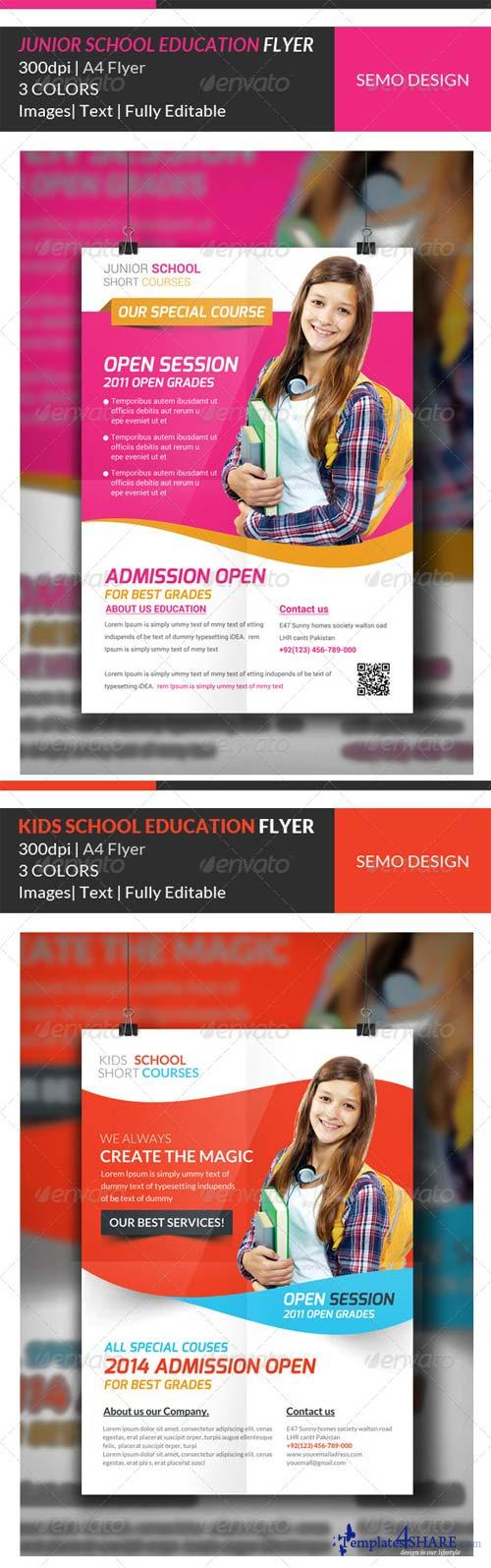 GraphicRiver Junior School Education Flyer Template Bundle