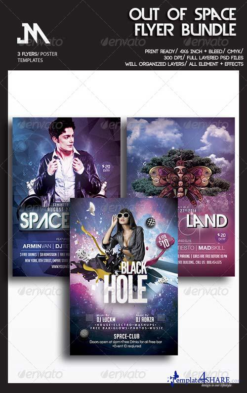 GraphicRiver Out Of Space Party Flyer Bundle