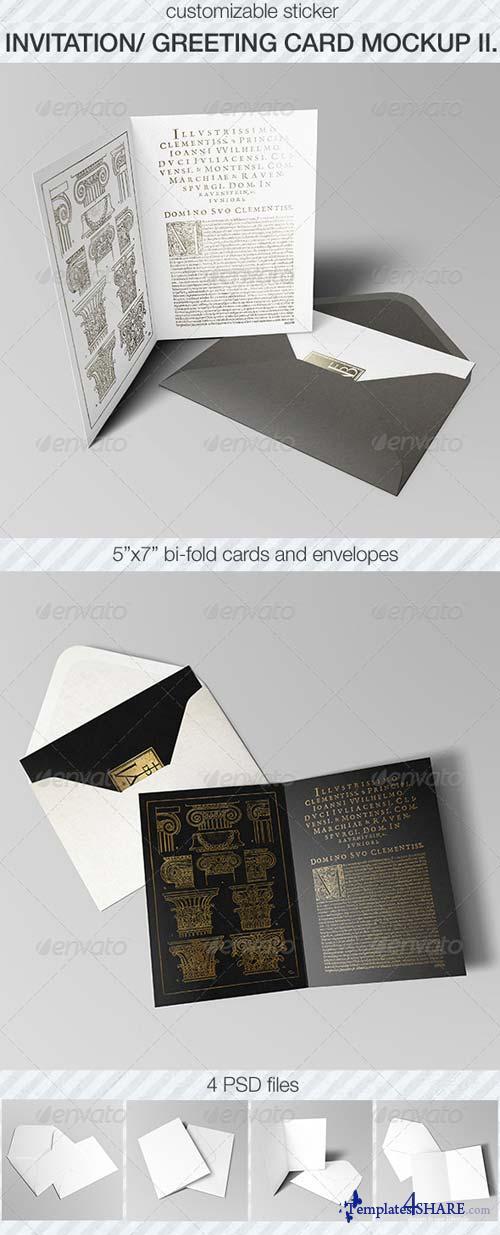 GraphicRiver Invitation & Greeting Card Mockup Pack II.