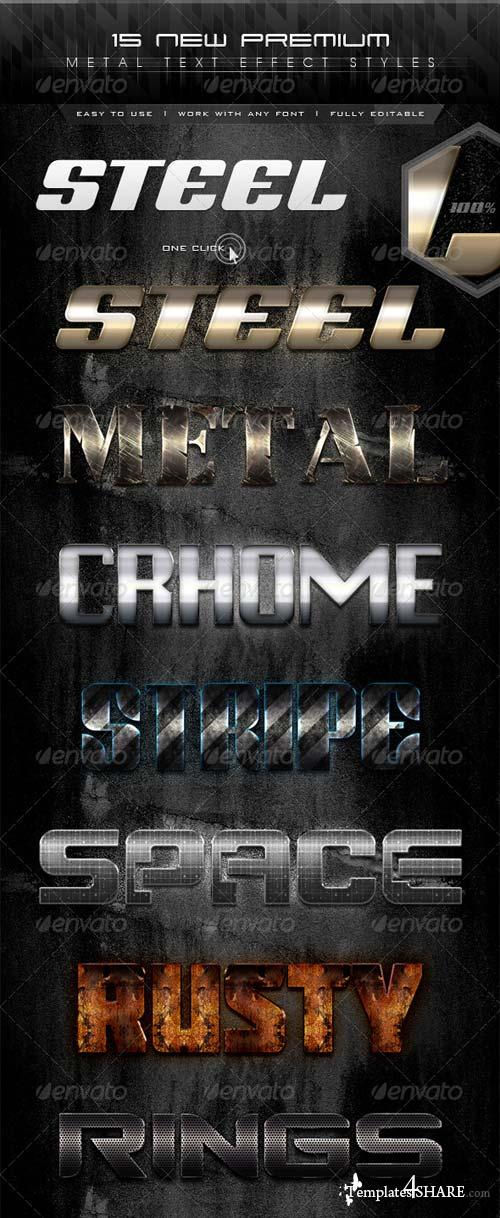 GraphicRiver 15 New Premium Metal Text Effect Styles