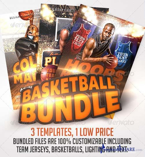 GraphicRiver Basketball Flyer Template Bundle