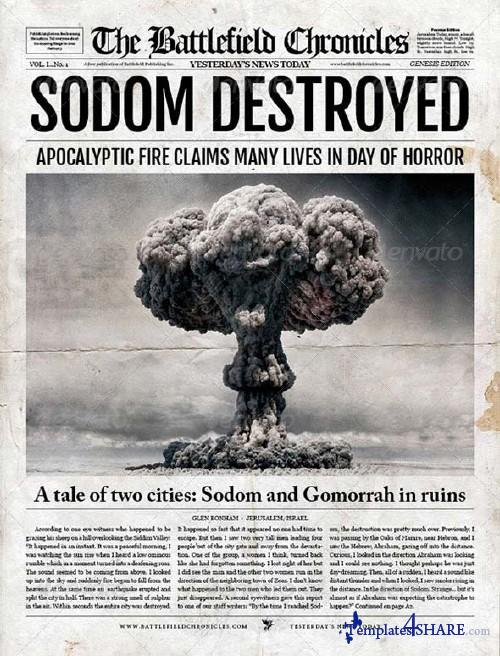 GraphicRiver Digital Tabloid Newspaper Template for InDesign
