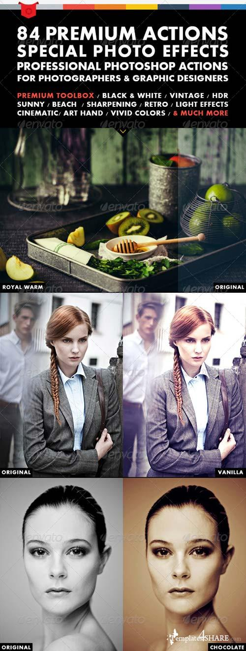 GraphicRiver 84 Premium Actions