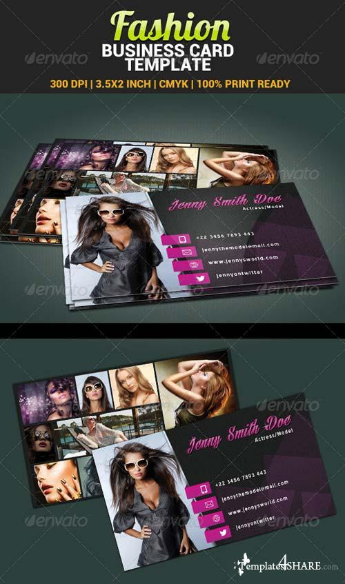 GraphicRiver Fashion Model Actress Business Card Template