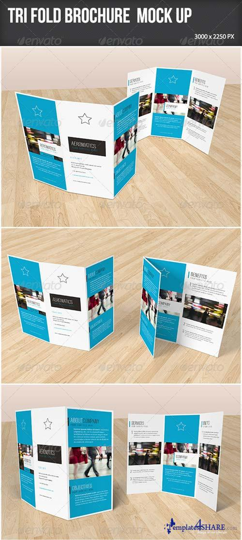 GraphicRiver Trifold Brochure Mock-up 7201822