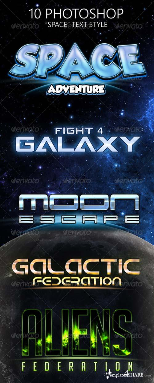GraphicRiver Space Game Photoshop Text Styles