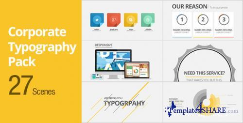 Corporate Typography Pack - After Effects Project (Videohive)