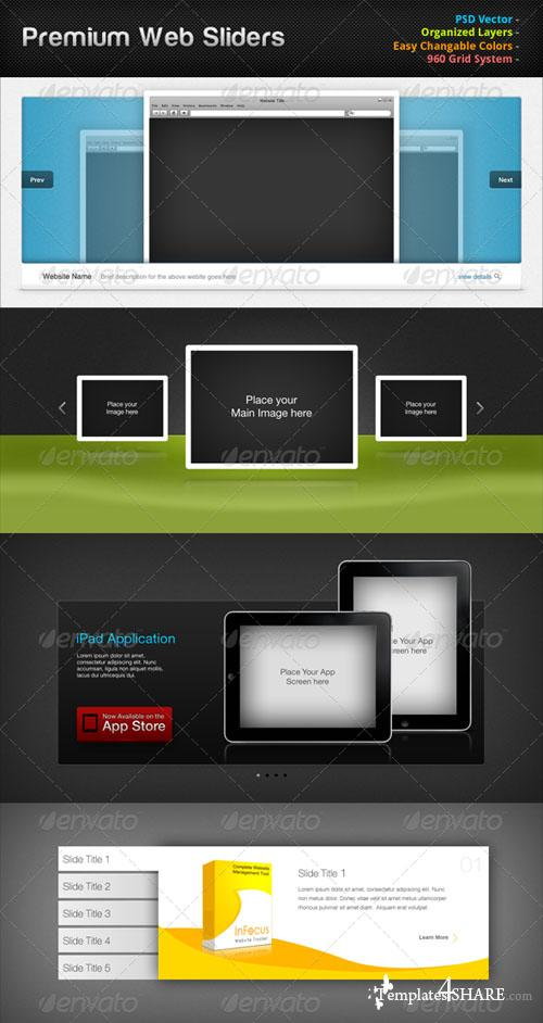 GraphicRiver Premium Web Sliders