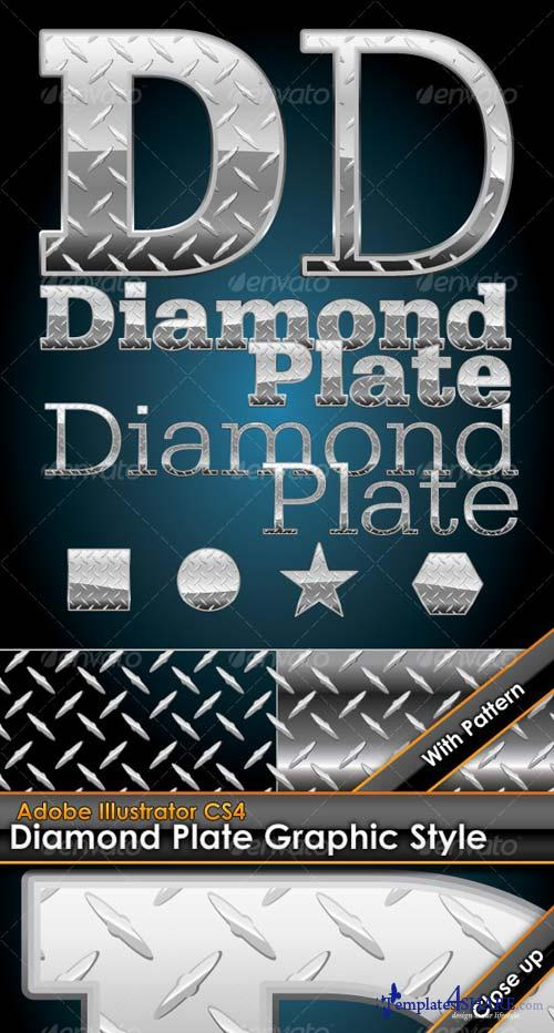 GraphicRiver Diamond Plate Illustrator Graphic Style & Pattern