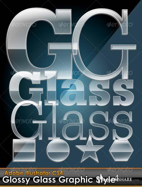 GraphicRiver Glossy Glass Illustrator Graphic Style