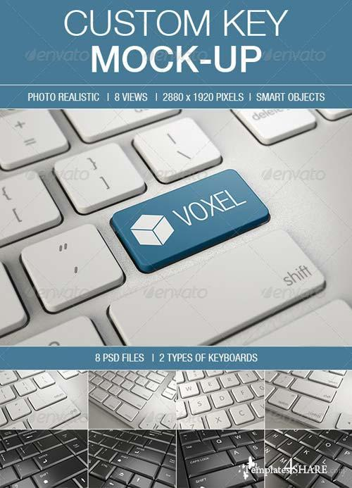 GraphicRiver Custom Key Mockup