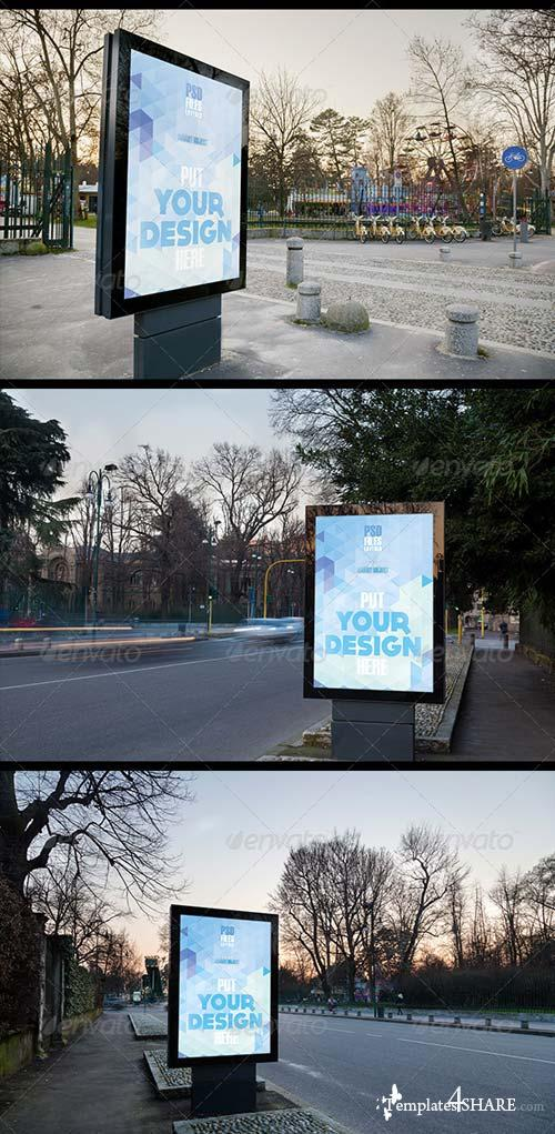 GraphicRiver Urban Poster Mock up 2