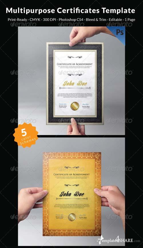 GraphicRiver Multipurpose Certificates Template