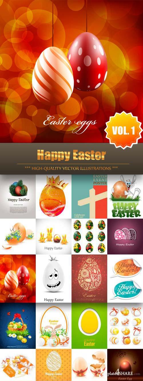 Happy Easter Vector Collection (Vol.1)