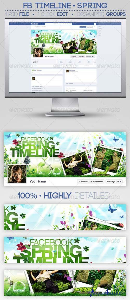 GraphicRiver FB Timeline Cover | Spring