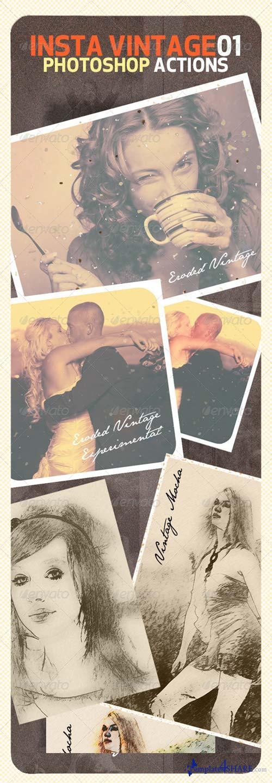 GraphicRiver INSTA Vintage Photoshop Actions (ATN)
