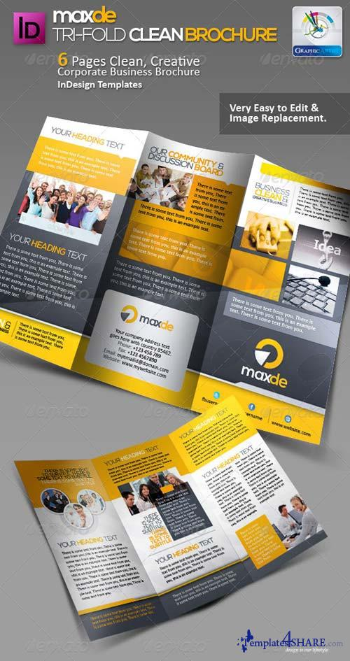 GraphicRiver Maxde Tri-fold Clean Brochure
