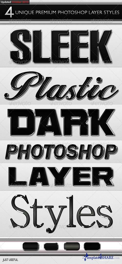 GraphicRiver Black Sleek Layer Styles