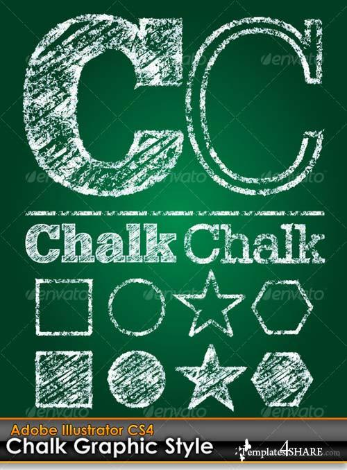 GraphicRiver Chalk Board Illustrator Graphic Style