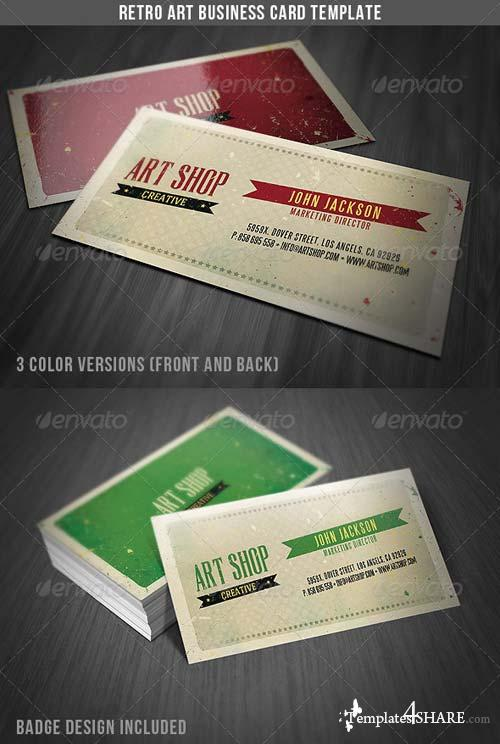 GraphicRiver Retro Art Business Card Template