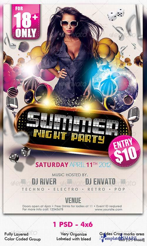GraphicRiver Summer Night Party Flyer