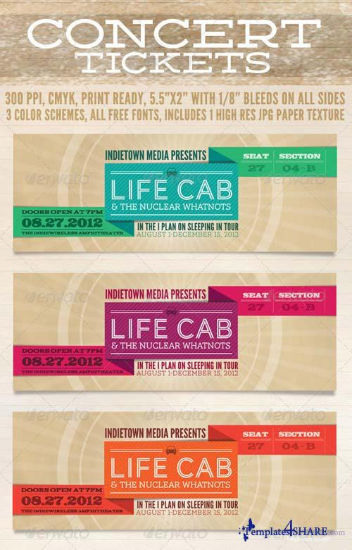 GraphicRiver Concert Tickets