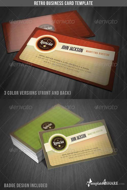 GraphicRiver Retro Business Card Template
