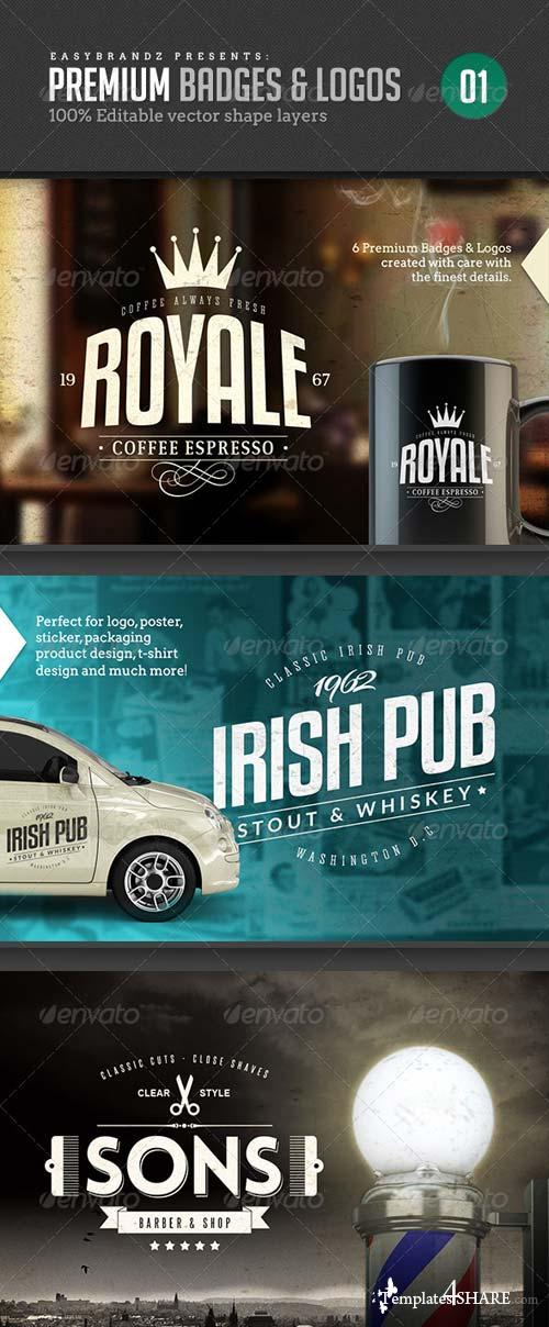 GraphicRiver Badges & Logos Vol.01